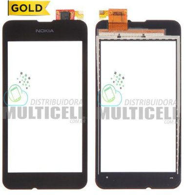 TELA TOUCH SCREEN NOKIA LUMIA 530 RM-1020 PRETO 1ªLINHA AAA GOLD