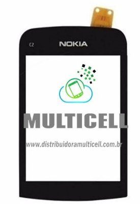TELA TOUCH SCREEN NOKIA C2-06 PRETO 1ªLINHA