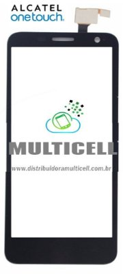 TELA TOUCH SCREEN ALCATEL ONE 6030N IDOL PRETO 1ªLINHA