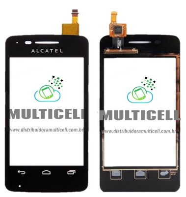 TELA TOUCH SCREEN ALCATEL OT4010 ONE TOUCH PRETO ORIGINAL