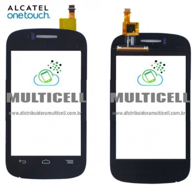 TELA TOUCH SCREEN ALCATEL OT4015/OT4015N/OT4016 ONE TOUCH PRETO ORIGINAL