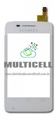 TELA TOUCH SCREEN ALCATEL OT4010 ONE TOUCH BRANCO ORIGINAL