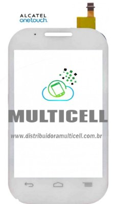 TELA TOUCH SCREEN ALCATEL OT4015/OT4015N/OT4016 ONE TOUCH BRANCO ORIGINAL