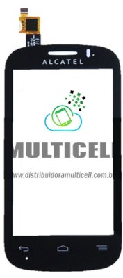 TELA TOUCH SCREEN ALCATEL OT4033 ONE TOUCH POP C3 PRETO ORIGINAL