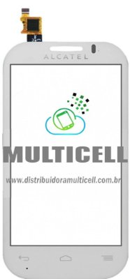 TELA TOUCH SCREEN ALCATEL OT4033 ONE TOUCH POP C3 BRANCO ORIGINAL