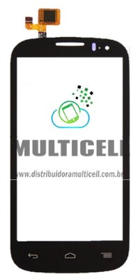 TELA TOUCH SCREEN ALCATEL OT-5036 OT5036 OT5037 OT-5037 ONE TOUCH POP C5 PRETO ORIGINAL