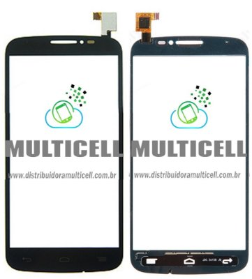 TELA TOUCH SCREEN ALCATEL OT7040 OT-7040 OT7041 OT-7041 ONE TOUCH POP C7 PRETO 1ªLINHA AAA QUALIDADE GOLD