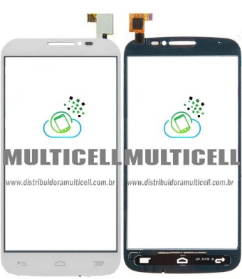 TELA TOUCH SCREEN ALCATEL OT7040 OT-7040 OT7041 OT-7041 ONE TOUCH POP C7 BRANCO ORIGINAL