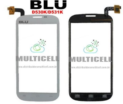 TELA TOUCH SCREEN BLU STUDIO D530K/D531K 5.0 BRANCO ORIGINAL
