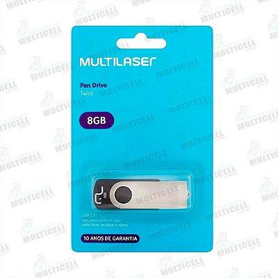 PENDRIVE TWIST MULTILASER 8GB USB 2.0 ORIGINAL