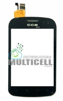TELA TOUCH SCREEN CCE SM55 PRETO ORIGINAL