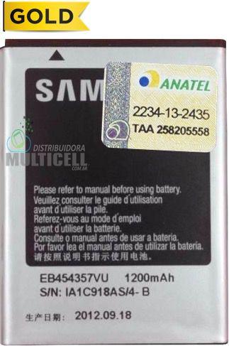 BATERIA SAMSUNG S5300 S5360 EB454357VU 1200mAh 1ªLINHA AAA QUALIDADE GOLD