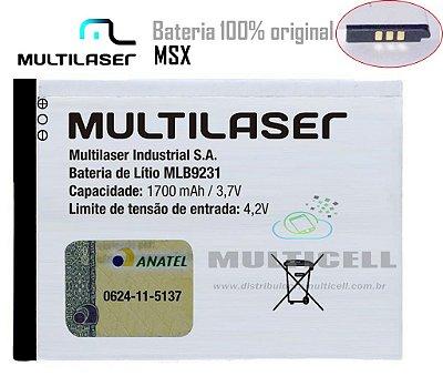 BATERIA MULTILASER P3304/MSX MLB9231 1700mhA  3,8V ORIGINAL