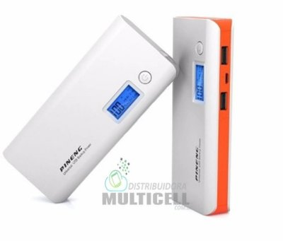BATERIA EXTERNA 10000mhA CARREGADOR PORTÁTIL POWER BANK PINENG PN-968 100% ORIGINAL