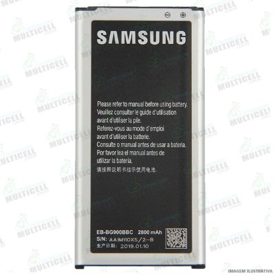 BATERIA SAMSUNG EB-BG900BBC G900 GALAXY S5 1ªLINHA QUALIDADE AAA (CELLCOM)