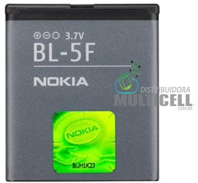 BATERIA NOKIA BL5F 6210/E65/N95/N96/X5-01 1ªLINHA