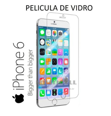 PELICULA DE VIDRO APPLE IPHONE 6 6S 4.7' 2,5mm