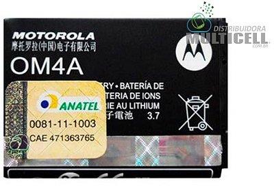 BATERIA MOTOROLA OM4A EX108/EX109/WX290/WX295/W210/EX116/EX117/ALCATEL 1ªLINHA AAA