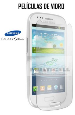 PELICULA DE VIDRO SAMSUNG I8190 I8200 GALAXY S3 MINI 2,5mm
