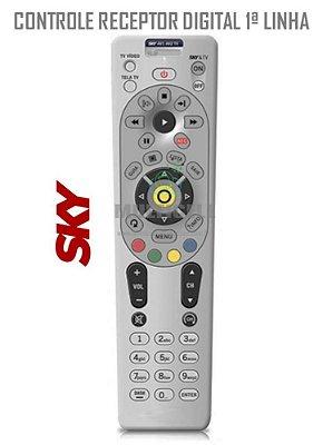 CONTROLE SKY HDTV MODELO 7410  H67 RC66l BRANCO 1ª LINHA