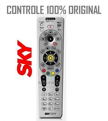 CONTROLE SKY HDTV MODELO NOVO H67 RC66l BRANCO ORIGINAL