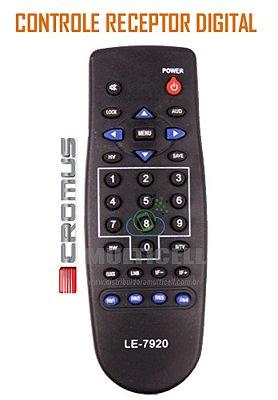 CONTROLE CROMUS AB5000/LM2000/LM200/SD DUO 200 AMERICAN RECEPTOR DIGITAL EL-7920 1ª LINHA