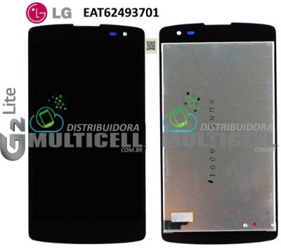 GABINETE FRONTAL TOUCH SCREEN LG D295/D390/D392 G2 LITE F60 PRETO ORIGINAL EAT62493701