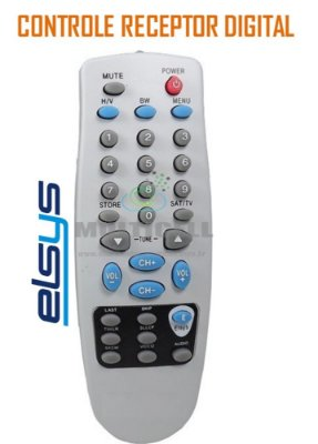 CONTROLE RECEPTOR DIGITAL ELSYS  VSR 2900/3000/4000/4100/4200 FBG-7555 MS-5538 1ª LINHA