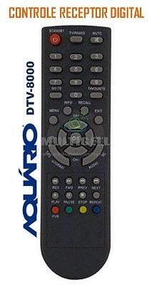CONTROLE RECEPTOR DIGITAL AQUARIO DTV-8000 SKY-7473 1ª LINHA