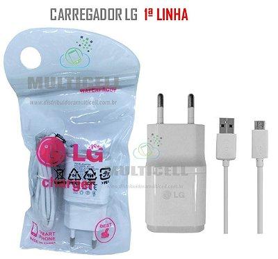 CARREGADOR LG MICRO USB MODELO V8 BRANCO 5V 1ªLINHA AAA