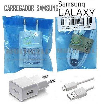 CARREGADOR SAMSUNG MICRO USB 5V MODELO V8 BRANCO 1ªLINHA AAA