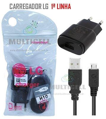 CARREGADOR LG MICRO USB MODELO V8 PRETO 5V 1ªLINHA AAA