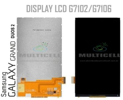 DISPLAY LCD SAMSUNG G7102 G7106 GALAXY GRAND 2 DUOS TV 1ªLINHA AAA