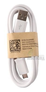 CABO MICRO USB V8 CARGA E DADOS MODELO SAMSUNG BRANCO 1ªLINHA