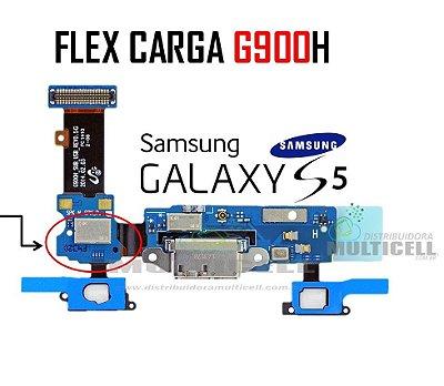 FLEX CONECTOR DE CARGA G900H SAMSUNG GALAXY S5 COM SENSOR TEC ORIGINAL