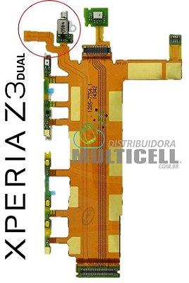FLEX POWER VOLUME VIBRA D6633  XPERIA Z3 DUAL 1ªLINHA AAA