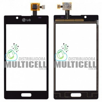 TELA TOUCH SCREEN LG P700 P705 OPTIMUS L7 PRETO 1ªLINHA