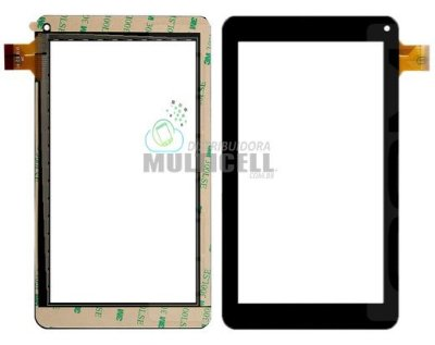 TELA TOUCH SCREEN VIDRO TABLET DL T71 DL 1603 DL M7-S M7S M7i TP252 DAZZ MX7 7