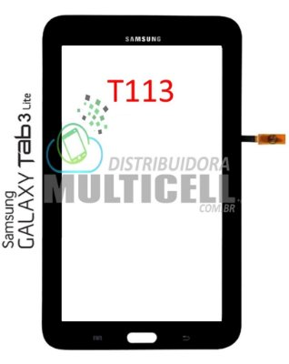 TELA TOUCH SCREEN T113 TAB 3 LITE 7' PRETO ORIGINAL
