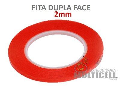 FITA DUPLA FACE 2mm PARA COLAGEM DE TOUCH SCREEN PROFISSIONAL VERMELHA