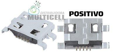 CONECTOR USB DOCK DE CARGA PARA TABLET POSITIVO YPY UNIVERSAL (5 TRILHA 4 BASE CURVA) GV1O3
