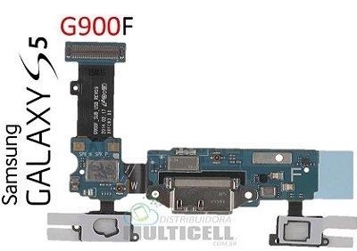 FLEX DOCK CONECTOR DE CARGA G900M G900F SAMSUNG GALAXY S5 COM SENSOR TEC ORIGINAL