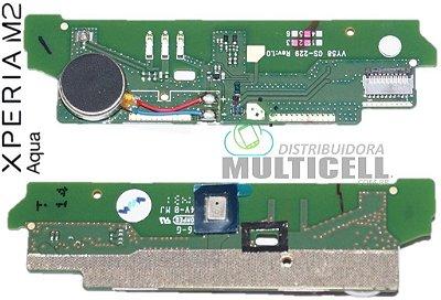 FLEX PLACA MICROFONE E VIBRA D2402 D2403 D2405 D2406 SONY XPERIA M2 AQUA ORIGINAL