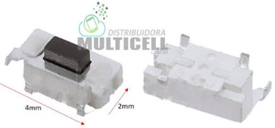 BOTÃO TECLA POWER ON/OFF UNIVERSAL PARA TABLET MODELO 4 X 2mm