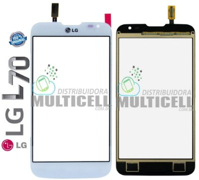 TELA TOUCH SCREEN LG D325 D340 L70 DUAL BRANCO ORIGINAL EBD61726301