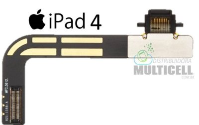 FLEX DOCK CONECTOR DE CARGA APPLE A1458 A1459 A1460 IPAD 4 ORIGINAL