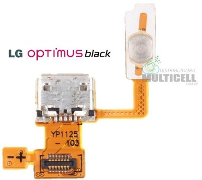 FLEX CONECTOR DE CARGA E TECLA POWER LG P970 OPTIMUS BLACK ORIGINAL