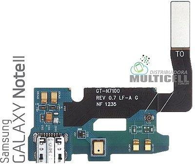 FLEX DOCK CONECTOR DE CARGA E MICROFONE N7100 SAMSUNG GALAXY NOTE II ORIGINAL