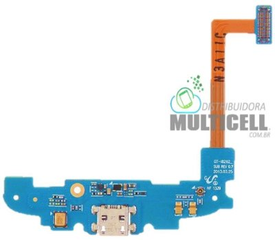 FLEX DOCK CONECTOR DE CARGA MICROFONE SAMSUNG I8260 I8262 GALAXY S3 SLIM DUOS 1ªLINHA AAA