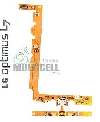 FLEX DOCK CONECTOR DE CARGA MICROFONE LG P700 P705 L7 1ªLINHA